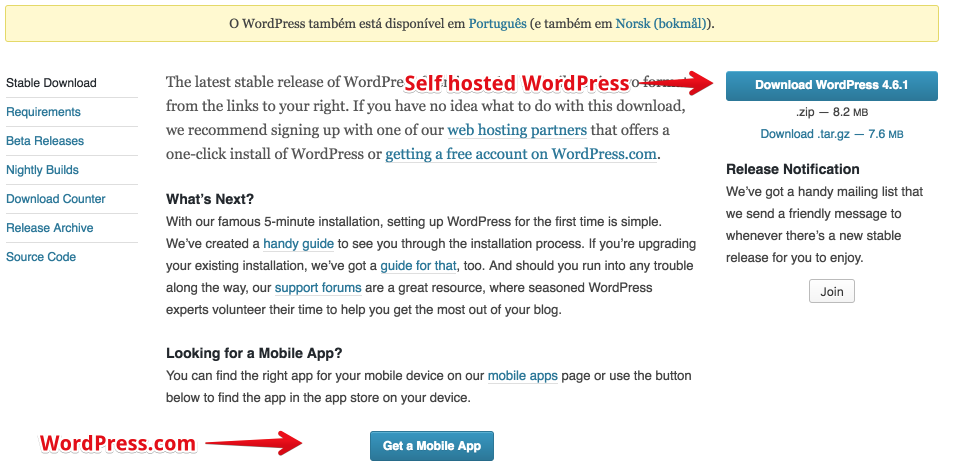 Download a file, or end up on WordPress.com