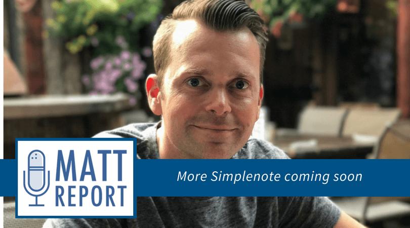 Dan Roundhill Matt Report