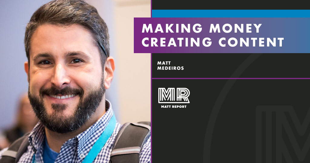 making money creating content